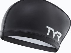 Шапочка для плавания TYR Long Hair Silicone Comfort Swim Cap черная